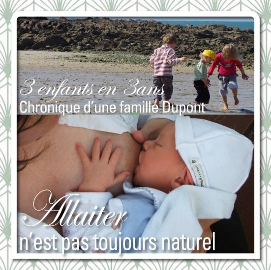 3 enfants en 3 ans allaitement