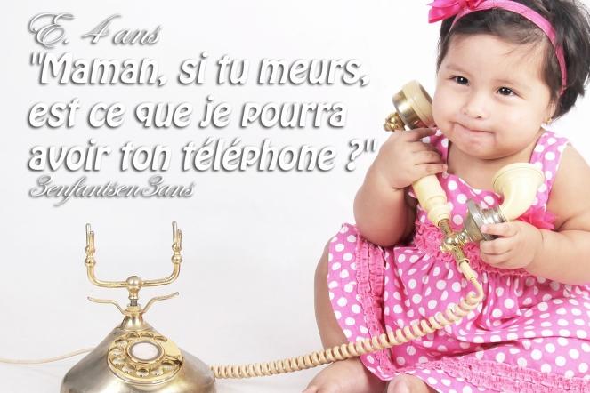 3 enfants en 3 ans téléphone