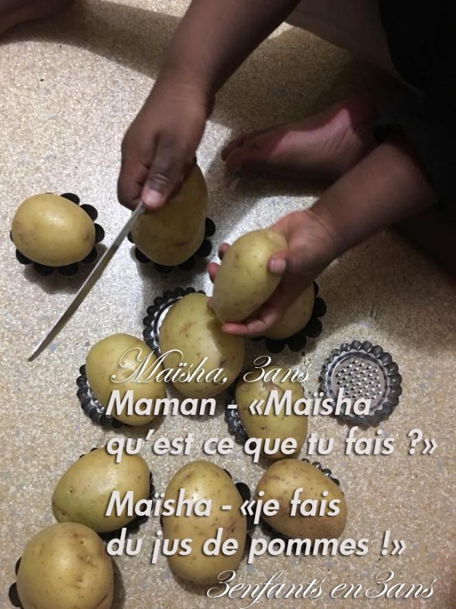 3 enfants en 3 ans - jus de pomme