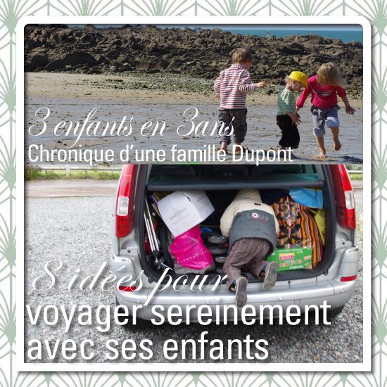 3 enfants en 3 ans voiture voyage