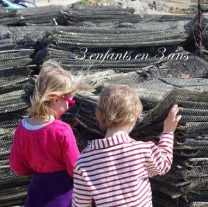 3 enfants en 3 ans enfant de mer filet huitres