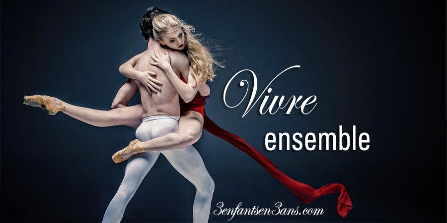 couple de danseur, traine rouge, vivre ensemble